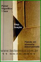 Painel frigorifico 1 face - Detalhe da fixação