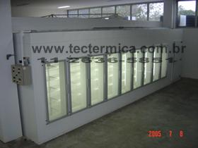 Portas de vidro para walkin cooler - Vista externa