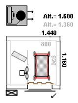 Ultra congelador, capacidade 100 kg/hora - Layout