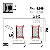 Mini ultra congelador, capacidade para 150 kg/hora - Layout