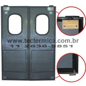 Porta de alto impacto com para-choque - modelo CP/ABS/PUR