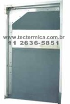 Porta flexível com 1 folha - Modelo 25/OTO