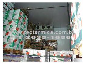 O armazenamento das verduras e legumes se dá na câmara fria