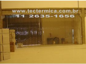 A Cortina de PVC para câmara frigorifica barra a fuga de ar frio
